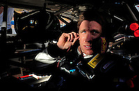 Apr 17, 2009; Avondale, AZ, USA; NASCAR Nationwide Series driver Carl Edwards during qualifying prior to the Bashas Supermarkets 200 at Phoenix International Raceway. Mandatory Credit: Mark J. Rebilas-