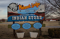 The Mohawk Lodge was established in 1892 selling Indian wares and is the oldest Indian Trading Post in Oklahoma,relocated to Clinton Oklahoma in 1942 to benefit from the traffic on Route 66.