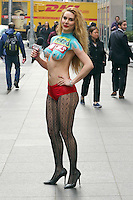 www.acepixs.com<br /> <br /> February 23 2017, New York City<br /> <br /> Naked news anchor Marina Valmont from Naked News shoots a segment in Midtown Manhattan on February 23 2017 in New York City<br /> <br /> By Line: Zelig Shaul/ACE Pictures<br /> <br /> <br /> ACE Pictures Inc<br /> Tel: 6467670430<br /> Email: info@acepixs.com<br /> www.acepixs.com