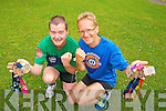 Jim McNiece (Tralee) and Thomas Bubendorfer (Killorglin) pictured on Monday after completing the 10 Marathons in 10 Days in Sixmilebridge, county Clare.