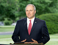 United States House Majority Whip Steve Scalise (Republican of Louisiana) is interviewed at the White House in Washington, DC following the passage of the American Health Care Act (AHCA) on May 4, 2017.<br /> Credit: Ron Sachs / CNP /MediaPunch