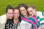 Seeing double: Twins Laura and Lisa Devane and Marie and Catherine Morris, Spa, who started their Leaving Cert exams in St Brigids Secondary School, Killarney, on Wednesday..