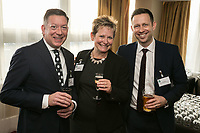 From left are David Cracknell of Inter County Services, Susan Hallam of Hallam Internet and Nick Taylor of Domino Commercial Interiors