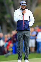 Vice Captain Tiger Woods US Team on the 11th green during Thursday's Practice Day of the 41st RyderCup held at Hazeltine National Golf Club, Chaska, Minnesota, USA. 29th September 2016.<br /> Picture: Eoin Clarke | Golffile<br /> <br /> <br /> All photos usage must carry mandatory copyright credit (&copy; Golffile | Eoin Clarke)