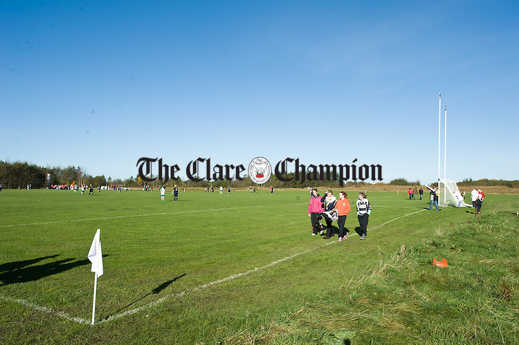 Clare's new Camogie grounds in fine form at the official opening of Fr Mc Namara Memorial Park in Doora. Photograph by John Kelly.