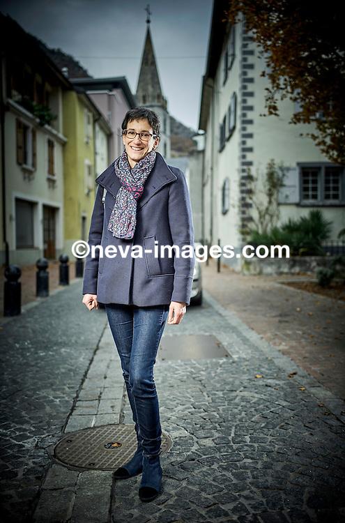 Novembre 13 2016, Martigny, 16 ans après son père, Anne-Laure Couchepin devient la première présidente d'une ville du Valais romand © sedrik nemeth