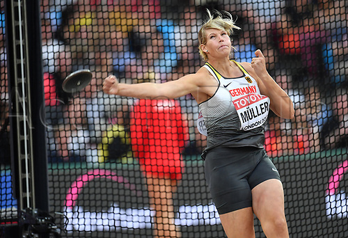 August 12th 2017, London Stadium, East London, England; IAAF World Championships, Day 9;  Germany's Nadine Mueller in action during the discus throw at the IAAF London 2017 World Athletics Championships in London, United Kingdom, 13 August 2017.