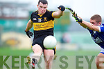 Alan O'Sullivan Dr Crokes in action against Kerins O'Rahillys in the Semi Finals of the Senior County Football Championship at Austin Stack Park on Sunday.