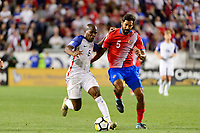 Harrison, NJ - Friday Sept. 01, 2017: Darlington Nagbe, Celso Borges during a 2017 FIFA World Cup Qualifier between the United States (USA) and Costa Rica (CRC) at Red Bull Arena.