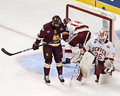 Parker Mackay (UMD - 39), Emil Romig (DU - 18), Tanner Jaillet (DU - 36) - The University of Denver Pioneers defeated the University of Minnesota Duluth Bulldogs 3-2 to win the national championship on Saturday, April 8, 2017, at the United Center in Chicago, Illinois.