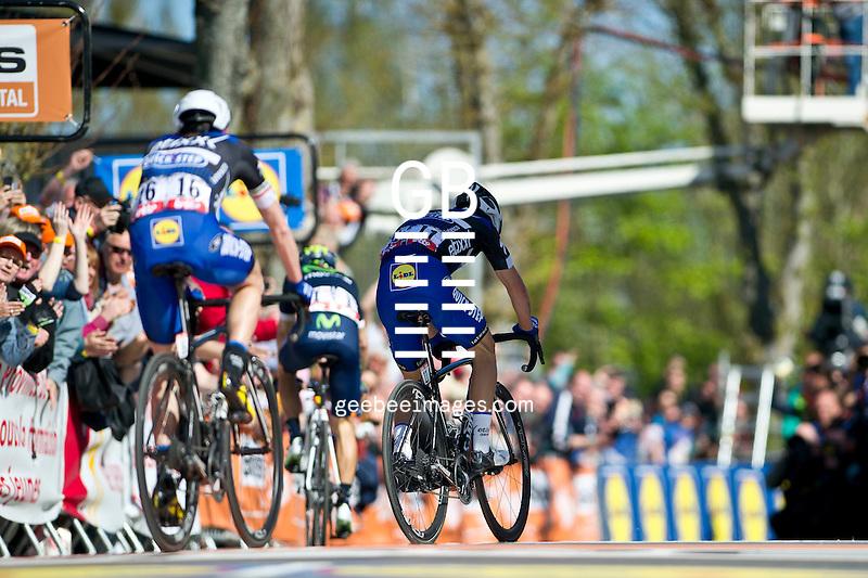 2016 La Fleche Wallonne<br /> Huy, Belgium<br /> 20 April 2016<br /> Julian Alaphilippe, Etixx - QuickStep