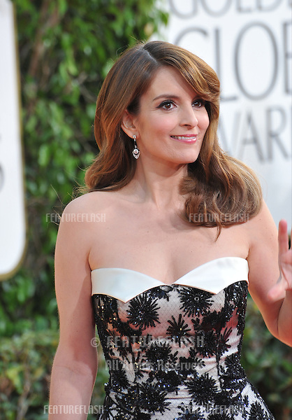Tina Fey at the 70th Golden Globe Awards at the Beverly Hilton Hotel..January 13, 2013  Beverly Hills, CA.Picture: Paul Smith / Featureflash