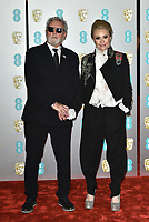 Roger Taylor and Sarina Potgieter<br /> The EE British Academy Film Awards 2019 held at The Royal Albert Hall, London, England, UK on February 10, 2019.<br /> CAP/PL<br /> ©Phil Loftus/Capital Pictures