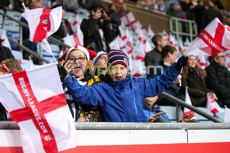Picture by Alex Whitehead/SWpix.com - 05/11/16 - Rugby League - 2016 Ladbrokes Four Nations - England v Scotland - Ricoh Arena, Coventry, England - Brief. Fans, supporters.