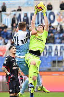 Sergej Milinkovic-Savic of Lazio and Alessio Cragno of Cagliari  compete for the ball during the Serie A 2018/2019 football match between SS Lazio and Cagliari at stadio Olimpico, Roma, December 22, 2018 <br />  Foto Andrea Staccioli / Insidefoto