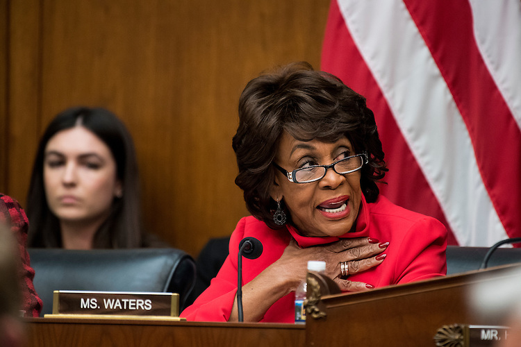 UNITED STATES - FEBRUARY 2: Ranking member Maxine Waters, D-Calif., participates in the House Financial Services Committee meeting to organize for the 115th Congress on Thursday, Feb. 2, 2017. (Photo By Bill Clark/CQ Roll Call)