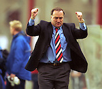 Dick Advocaat celebrates another victory for Rangers , 1999
