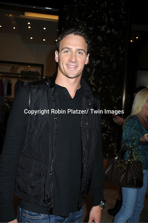 Ryan Lochte attends the Sherri Hill Spring 2012 Fashion Show on September 7, 2012 at Trump Tower in New York City.