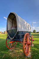 Covered wagon locatted at the Fort Smith National Historic Site.