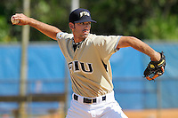 2 March 2008: Florida International pitcher Kyle Preshong (24) throws in relief in the top of the sixth inning of the FIU 8-3 victory over Wagner  at University Park Stadium in Miami, Florida.