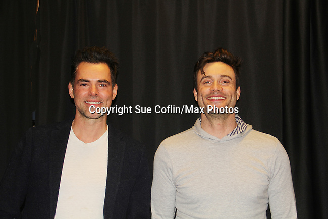 The Young and The Restless actors Jason Thompson & Daniel Goddard came together on February 16, 2019 for a fan q & a, meet and great with autographs and photo taking hosted by Soap Opera Festival's Joyce Becker at the Hollywood Casino in Columbus, Ohio. (Photos by Sue Coflin/Max Photos)