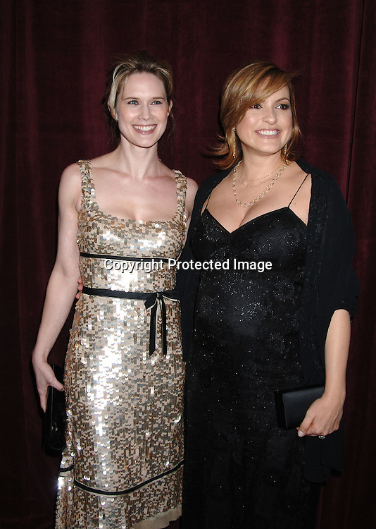 Stephanie March and Mariska Hargitay ..at The International Radio and Television Society Foundation Gold Medal Award Dinner honoring Jeff Zucker,..CEO of NBC Universal Television Group on March 9, 2006..at The Waldorf Astoria Hotel. ..Robin Platzer, Twin Images