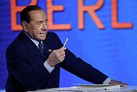 Roma, 14 Maggio 2019<br /> Silvio Berlusconi partecipa alla trasmissione televisiva L'aria che tira