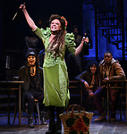 """Amber Gray during the Broadway Press Performance Preview of """"Hadestown""""  at the Walter Kerr Theatre on March 18, 2019 in New York City."""