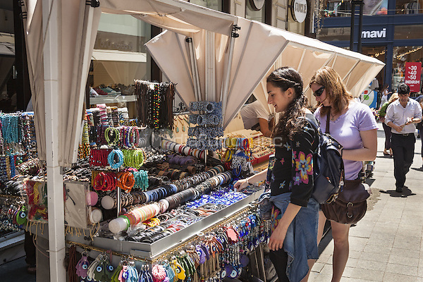 Tourists standing beside a market stall, Istanbul, Turkey  May 2015.<br /> CAP/MEL<br /> &copy;MEL/Capital Pictures /MediaPunch ***NORTH AND SOUTH AMERICA ONLY***