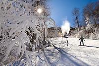 Snow skiing at Sugar Mountain Ski Resort in Banner Elk, North Carolina.