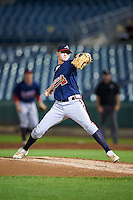 Michael Minacci #15 of North Florida Christian School in Tallahassee, Florida playing for the Atlanta Braves scout team during the East Coast Pro Showcase at Alliance Bank Stadium on August 1, 2012 in Syracuse, New York.  (Mike Janes/Four Seam Images)