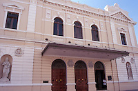 The restored Teatro Nacional or National Theatre in  Casco Viejo, the oldest neighbourhood in Panama City, Panama
