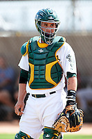 Oakland Athletics minor league catcher Beau Taylor #66 during an instructional league game against the Arizona Diamondbacks at the Papago Park Baseball Complex on October 11, 2012 in Phoenix, Arizona. (Mike Janes/Four Seam Images)