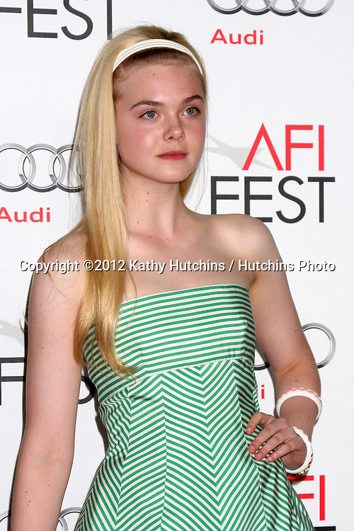 """LOS ANGELES - NOV 7:  Elle Fanning arrives at the """"Ginger And Rosa"""" Special Screening at Graumans Chinese Theater on November 7, 2012 in Los Angeles, CA"""