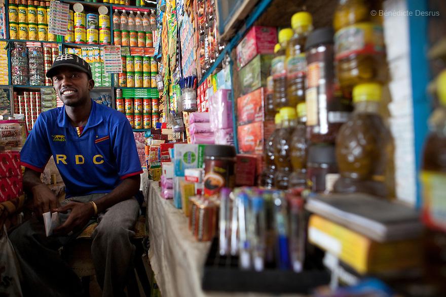 15 january 2011 - Juba, Sudan - Shop keeper in Juba. Photo credit: Benedicte Desrus