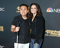 """LOS ANGELES - OCT 21:  Kodi Lee, Tina Lee at the """"America's Got Talent - The Champions"""" Season 2 Finale Guest Performers Photo Call at the Sheraton Pasadena Hotel on October 21, 2019 in Pasadena, CA"""