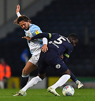 Blackburn Rovers' Bradley Dack battles with Derby County's Fikayo Tomori<br /> <br /> Photographer Dave Howarth/CameraSport<br /> <br /> The EFL Sky Bet Championship - Blackburn Rovers v Derby County -Tuesday 9th April 2019 - Ewood Park - Blackburn<br /> <br /> World Copyright &copy; 2019 CameraSport. All rights reserved. 43 Linden Ave. Countesthorpe. Leicester. England. LE8 5PG - Tel: +44 (0) 116 277 4147 - admin@camerasport.com - www.camerasport.com