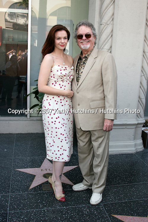 Russ & Amber Tamblyn (Father, Daughter).Screen Actors Guild Award of Excellence Star on the Hollywood Walk of Fame.7018 Hollywood Blvd.Los Angeles,  CA.October 25, 2007.©2007 Kathy Hutchins / Hutchins Photo...               .