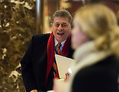 Judge Andrew Napolitano is seen in the lobby of Trump Tower in New York, NY, USA on December 15, 2016. <br /> Credit: Albin Lohr-Jones / Pool via CNP