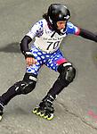 1. Inline Downhill Weltmeisterschaft, Zell am See (Austria) Luc Lenoir (Swiss), Kurve