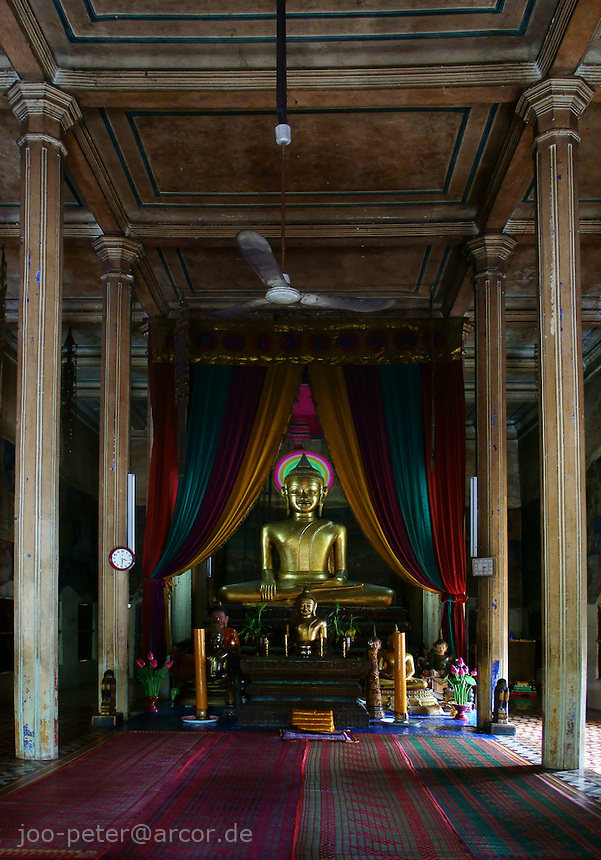 inside buddhist temple in Siem Reap, Phnom Penh, Cambodia, August 2011