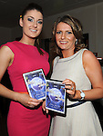Niamh Gardiner and Olwyn McGinn pictured at the launch of the Strictly Come Dancing DVD at the Rugby Club. Photo: Colin Bell/pressphotos.ie