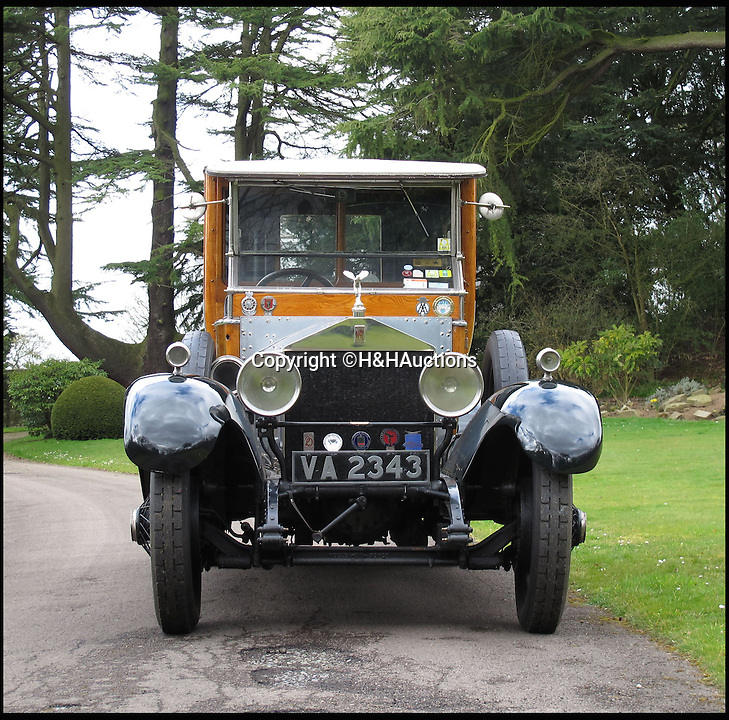 BNPS.co.uk (01202 558833)<br /> Pic: H&amp;H/BNPS<br /> <br /> Rolls Royce Silver Ghost with a racey royal past.<br /> <br /> A Rolls-Royce car thought to have been used by controversial monarch Edward VIII to sneak his lover Wallis Simpson in and out of Royal estate Balmoral has emerged for sale for &pound;120,000.<br /> <br /> It is rumoured that Edward, who sparked a constitutional meltdown in 1936 when he abdicated the throne to be with the the American divorcee, had blinds fitted to the rear of the specially-built motor so they could travel without being spotted.<br /> <br /> The Silver Ghost car was a year old in 1922 when Edward, then the Prince of Wales, bought it to go on shooting parties at the Royal family's Highlands retreat.<br /> <br /> It is thought that at some point before becoming king and then abdicating the throne in 1936, Edward fitted blinds to the rear compartment of the car for privacy on romantic breaks to Balmoral with Simpson.<br /> <br /> It is tipped to fetch &pound;120,000 when it goes under the hammer at H &amp; H Classics.
