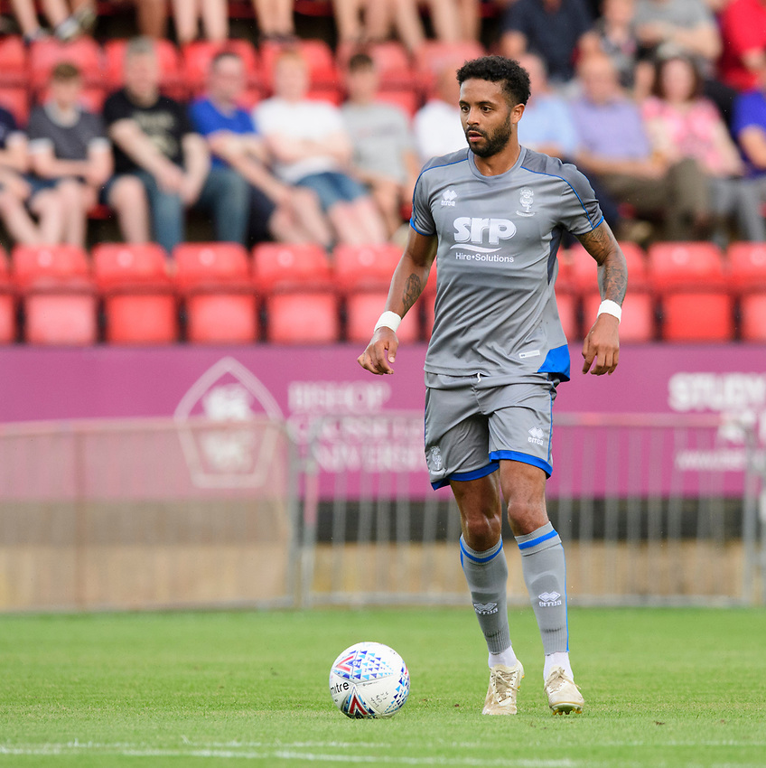 Lincoln City's Bruno Andrade<br /> <br /> Photographer Chris Vaughan/CameraSport<br /> <br /> Football Pre-Season Friendly - Lincoln City v Stoke City - Wednesday July 24th 2019 - Sincil Bank - Lincoln<br /> <br /> World Copyright © 2019 CameraSport. All rights reserved. 43 Linden Ave. Countesthorpe. Leicester. England. LE8 5PG - Tel: +44 (0) 116 277 4147 - admin@camerasport.com - www.camerasport.com