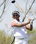JEJU, SOUTH KOREA - APRIL 25:  Thongchai Jaidee of Thailand tees off on the 12th hole during the Round Three of the Ballantine's Championship at Pinx Golf Club on April 25, 2010 in Jeju, South Korea. Photo by Victor Fraile / The Power of Sport Images