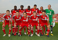 26 June 2010: The Toronto FC Starting Eleven during a game between the Los Angeles Galaxy and the Toronto FC at BMO Field in Toronto..Final score was 0-0...