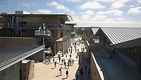 Sage Creek High School, Carlsbad, CA.<br /> View of campus buildings and students on way to classes. Chikako Terada, Architect.
