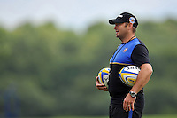 Bath Rugby First team coach Darren Edwards looks on. Bath Rugby training session on September 4, 2015 at Farleigh House in Bath, England. Photo by: Patrick Khachfe / Onside Images