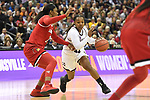 COLUMBUS, OH - MARCH 30: Roshunda Johnson #11 of the Mississippi State Bulldogs drives to the basket against Myisha Hines-Allen #2 of the Louisville Cardinals during a semifinal game of the 2018 NCAA Division I Women's Basketball Final Four at Nationwide Arena in Columbus, Ohio. (Photo by Justin Tafoya/NCAA Photos via Getty Images)