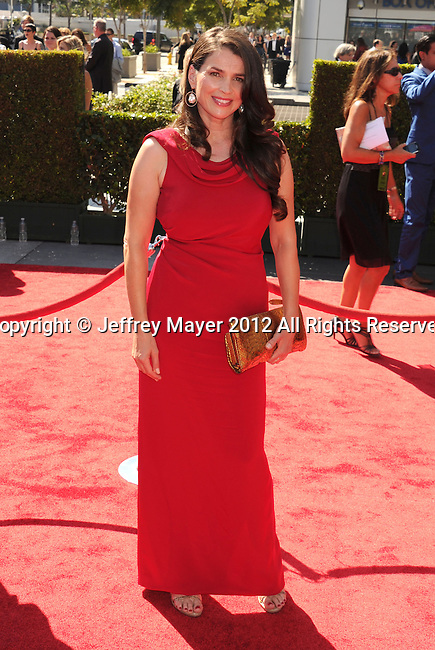 LOS ANGELES, CA - SEPTEMBER 15: Julia Ormond arrives at the 2012 Primetime Creative Arts Emmy Awards at Nokia Theatre L.A. Live on September 15, 2012 in Los Angeles, California.